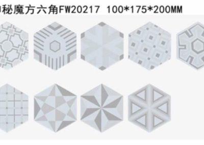 0104 六角形磚 花磚 灰調 幾何