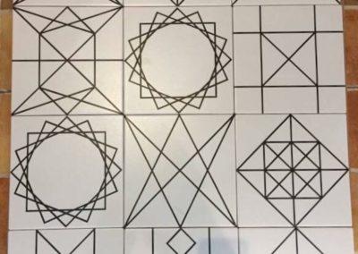 5002 花磚 簡約 現代 幾何對比 線條