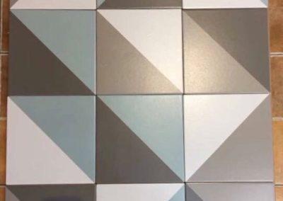 5004 花磚 簡約 現代 幾何圖 對比撞色