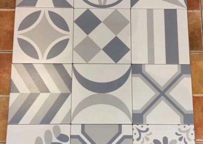 5005 花磚 簡約 現代 幾何圖 對比撞色
